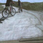 à bicyclette - 60 x 80